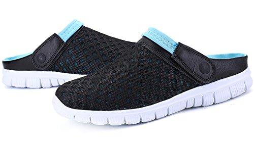 Traspiranti da per Scarpe Unisex Antiscivolo per Pantofole Nero Mesh Sandali Scarpe Esterni Spiaggia Sportive blu Estivi in qwwvB5T8x