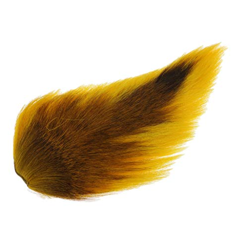 (Ameglia Bucktail Fishing Lure Jig Flies Deer Tail Hair Making DIY - Fly Tying (Color - Yellow))