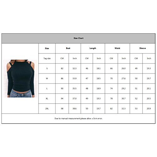 Automne Casual noir Taille Chemise Femme Jumper A Tricot pour Couleur Pull Unie Manche en pour Slim Mode Chemisier Grande Tops Fit Printemps Longue Dnudes Epaules Hibote ASW15