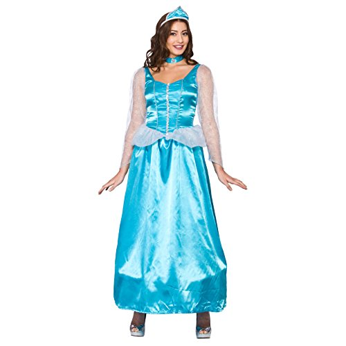 Ice Blue Princess (M) Fancy Dress Costume