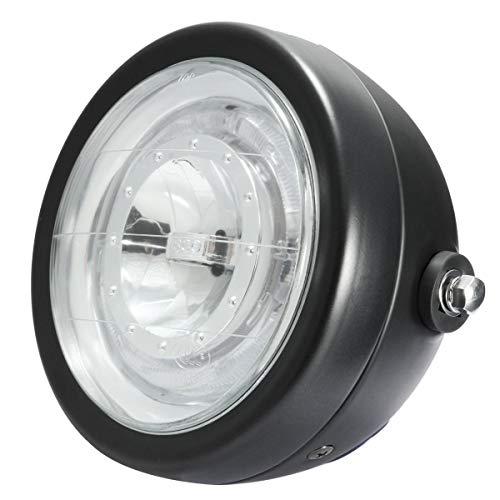 Iris-Shop - Universal Motorcycle LED Headlight Angel Eye Head Lamp Running Lights Hi/Lo Beam for Harley for Honda