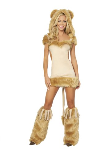 Roma Costume 1 Piece Courageous Lioness Costume, Honey, Small - Roma Courageous Lioness Costume
