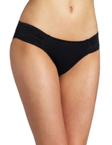 Seafolly - Parte inferior del bikini para mujer Negro