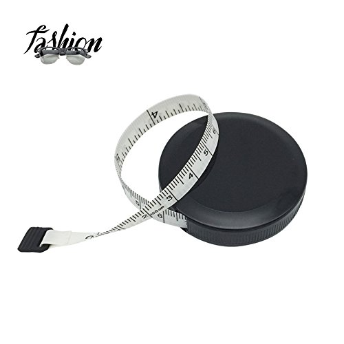 Tape Measure Retractable Measuring Tape for Cloth Body Measuring Tape and the Dual Sided Tape Measure for Sewing Tailor Fabric Measuring Tape (White)