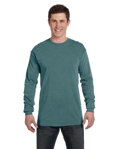Comfort Colors Garment-Dyed Long Sleeve T-Shirt, XL, Blue