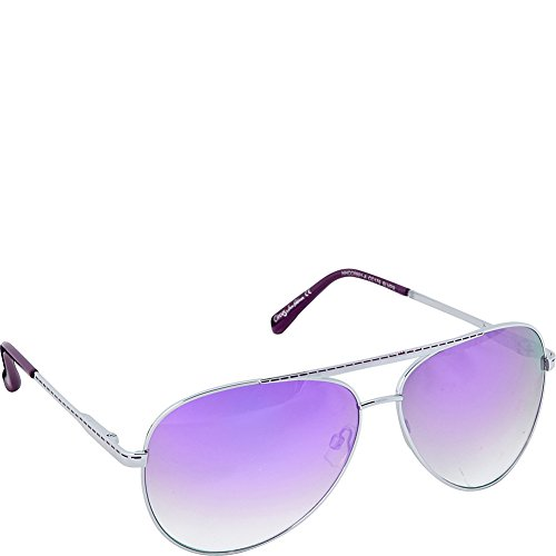 Circus by Sam Edelman Women's Cc179 Slvpr Aviator Sunglasses, Silver and Purple, 64 - Sam Edelman Sunglasses Circus By