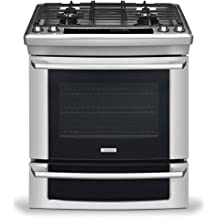 """EI30GS55JS IQ-Touch Series 30"""" Natural Gas Built-In Range with IQ-Touch Controls Luxury-Glide Oven Racks Warmer Drawer and Sabbath Mode Stainless"""