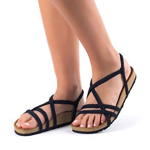 Sandales Confort Pláka Pour Les Femmes Noires Confortable