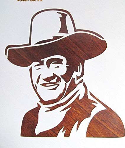 OutletBestSelling Reusable Sturdy John Wayne Stencil/Template Reusable 10 mil -