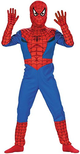 Morris Costumes SPIDERMAN STD COMIC, Blue/Red/Black, 7 TO 8
