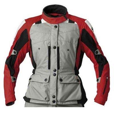 BMW Genuine Motorcycle Motorrad GS Dry jacket, ladies' - Color: Grey / Red - Size: EU 44 US 14 ()