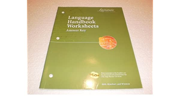 Language Handbook Worksheets Answer Key Elements Of
