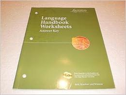 Language Handbook Worksheets Answer Key (Elements of Literature ...