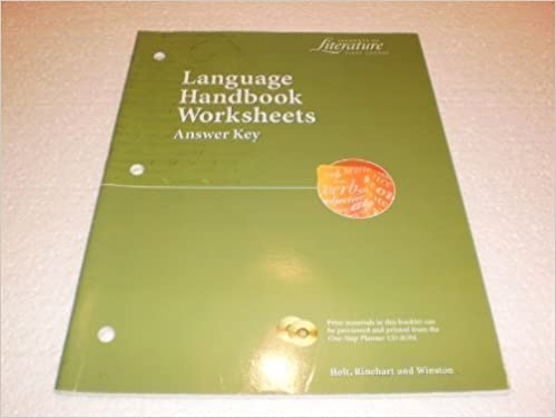 Printables Language Handbook Worksheets Answer Key Online language handbook worksheets answer key elements of literature 1st course rinehart and winston staff holt 9780030524127 amazon