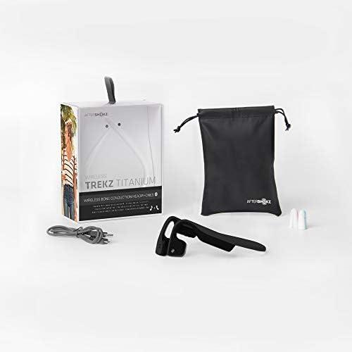 AfterShokz Titanium Bone Conduction Wireless Bluetooth Headphones, Black