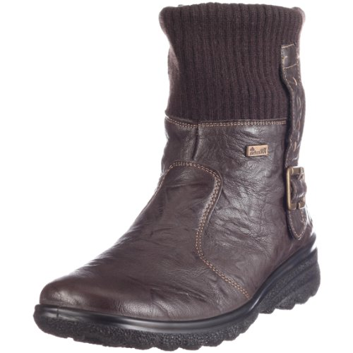 Rieker Girls' Hillry Coco Kakao Geprägtes Leder Snow Boots 39 by Rieker