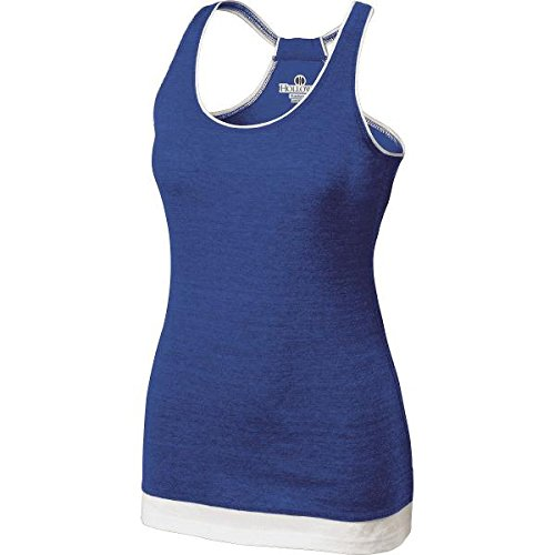 Holloway Juniors Pep Tank-Vintage Royal/White X-Small by Holloway
