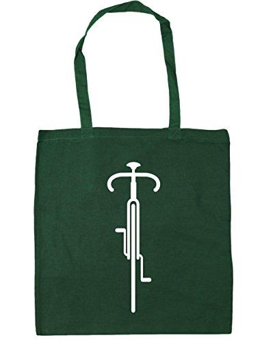 Hippowarehouse Manici Con Al 38 disegno Bag Litri Da Ginnastica 42 Verde Linee 10 Di Bottiglia Shopping X Tratto Borsa Centimetri La Per Capacità Spiaggia Bici Bike dqzxEnWvp