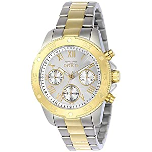 Invicta Women's Wildflower Quartz Watch with Stainless-Steel Strap, Two Tone, 18 (Model: 21733)