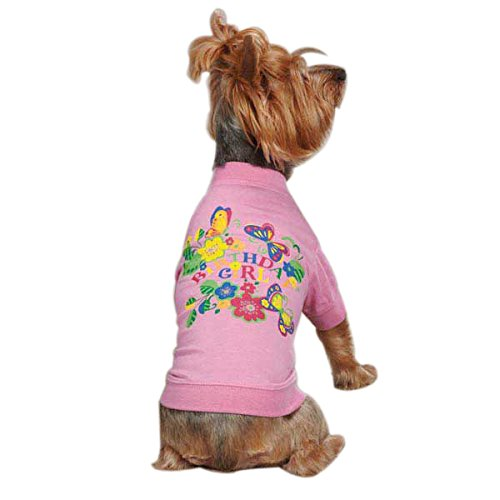 Zack & Zoey UM297 12 75 Birthday Girl Tee for Dogs, Small, Pink by Zack & Zoey