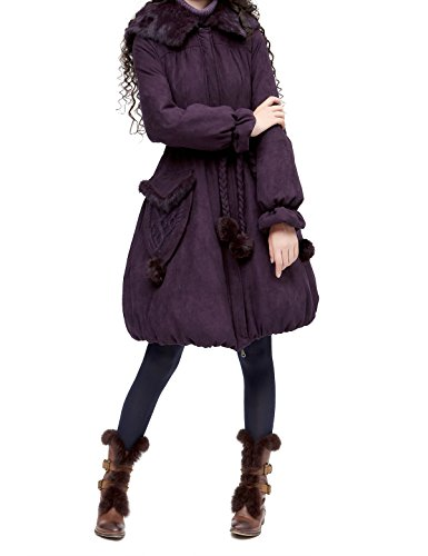 Artka Women's Vintage Casual Long Quilted Parkas Winter Coat with Hood Size L by Artka (Image #3)