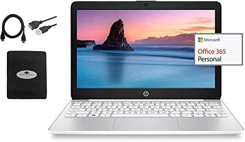 2021 Newest HP 11.6″ HD Anti-Glare Laptop, Intel Celeron N4000, 4GB RAM, 32GB eMMC, 1 Year Office 365, Webcam, WiFi, HDMI, Win10 (Google Classroom & Zoom Compatible), Ghost Manta Accessories