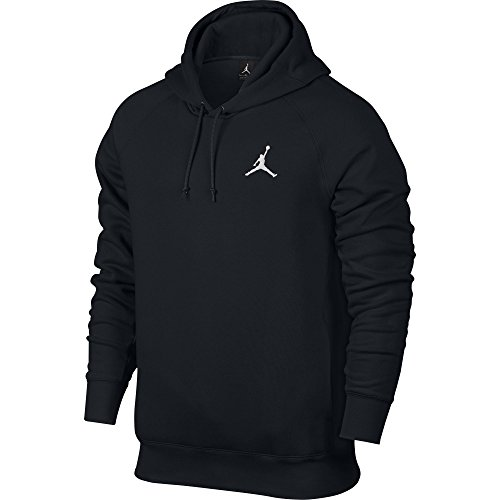 Nike Mens Jordan Flight Pull Over Hooded Sweatshirt Black/White 823066-010 Size 2X-Large (Terry Pullover Nike)