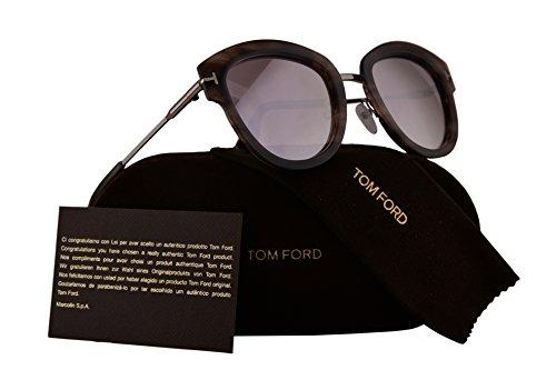 Tom Ford FT0574 Mia-02 Sunglasses Havana w/Brown Mirror Lens 55Z - Sale Havana For Brown