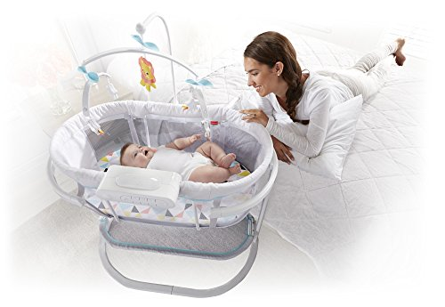 41HM 56KVJL - Fisher-Price Soothing Motions Bassinet, Windmill
