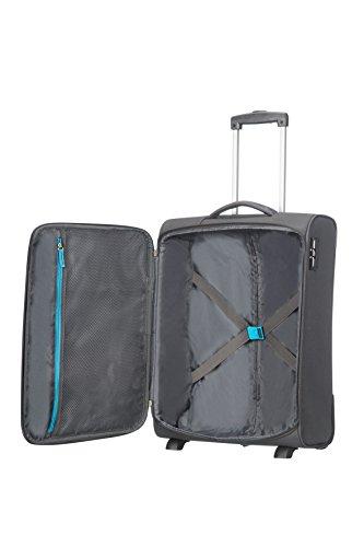 American Tourister Funshine Upright 55/20 Bagaglio a Mano, Poliestere, Sparkling Graphite, 39 litri, 55 cm