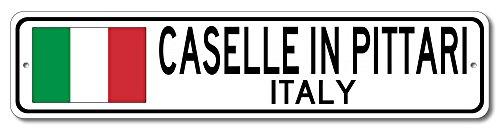 The Lizton Sign Shop Caselle In Pittari, Italy Aluminum Italian Flag Sign, Italy Custom Flag Sign - 4