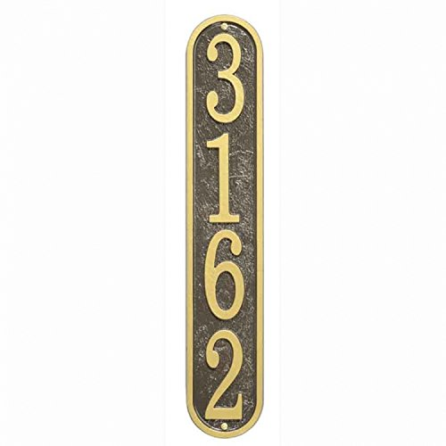 - Whitehall Fast & Easy Vertical House Numbers Plaque