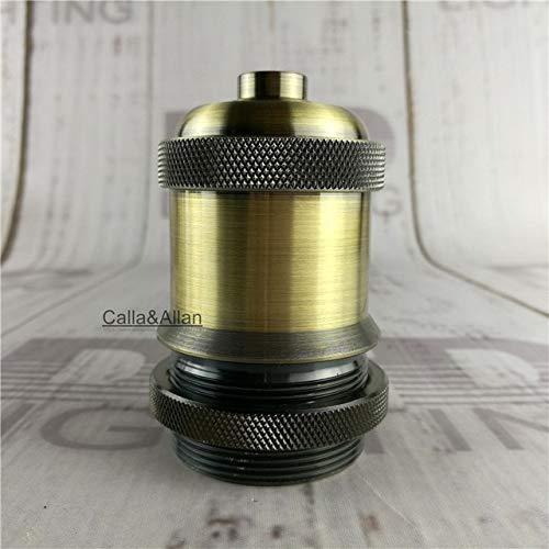 Lamp Base - 3 colors finished antique brass threaded sockets chrome pendant lamp holder E27 CE/UL aluminum plastic socket DIY lighting base - (Color: LH7f02, Base Type: 10units)