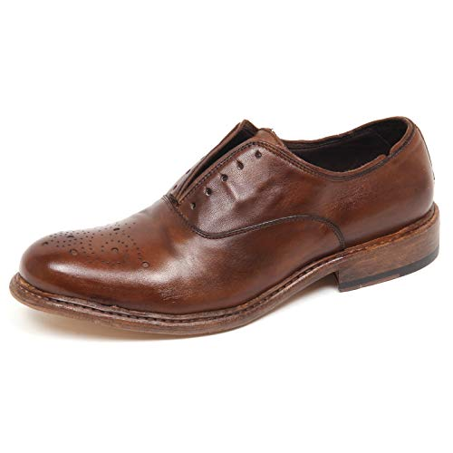 Vintage Mocassino Man Shoe 100 Effect HUNDRED Scarpe Marrone Brown E8820 Uomo qZYYB67