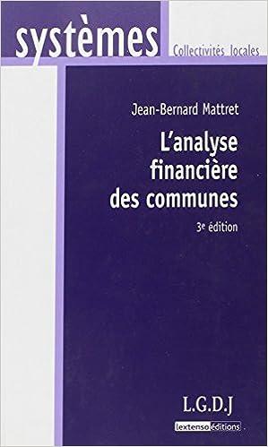 En ligne téléchargement L'analyse financière des communes pdf ebook