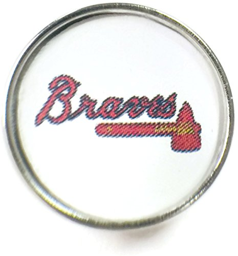 Snap Jewelry Fashion MLB Logo Atlanta Braves 18MM - 20MM Jewlery Snap Charm