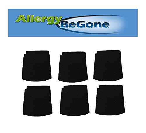 Allergy Be Gone Hamilton Beach 04230 Long Life General Purpose Air Cleaner Filters 6PK