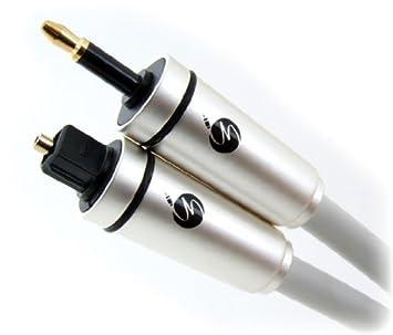 Fisual MJP-100 - Cable óptico/Mini Toslink para Apple Mac, blanco