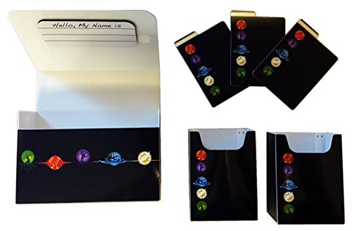 Max Protect ELEMENTAL 5 COLOR - MAGNETIC Double Deck BOX plus dividers by MAX PRO - Standard Magic the Gathering Size