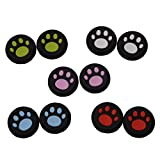 CTYRZCH 5 Pairs Replacement Cat Pad Style Silicone Analog Controller Joystick Thumb Stick Grip Cap Cover for Sony PS4/PS3/XboxOne/Xbox360 Controller