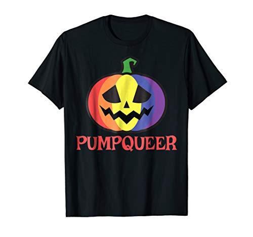 Pumpqueer Funny LGBT Halloween Costume Shirt Lesbian Gay