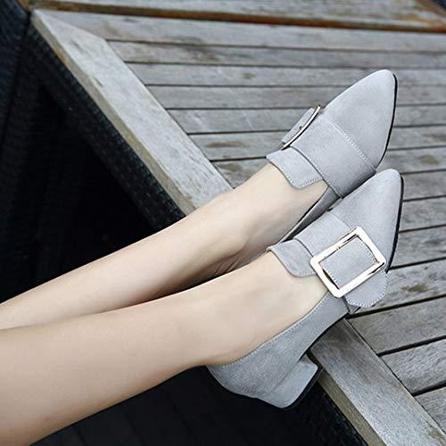 Zapatos Puntiagudos Ocasionales de Trabajo y con para Damas Moda A Zapatos Primavera FLYRCX de otoño de cómodos dxRqwOS
