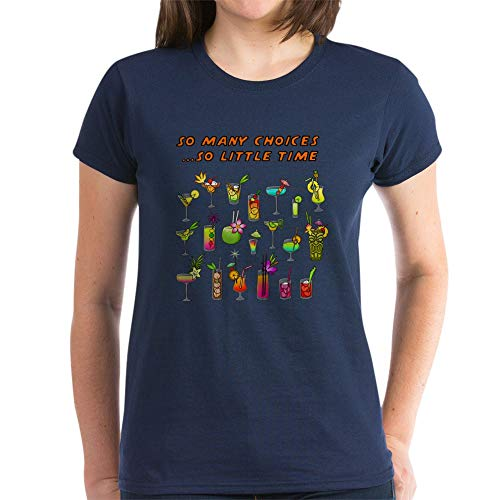 (CafePress Happy Hour T Shirt Womens Cotton T-Shirt Navy)