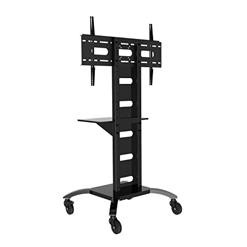 duronic tv stand tvs4t1 heavy duty mobile exibition meeting room trolley floor tv stand with. Black Bedroom Furniture Sets. Home Design Ideas