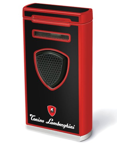 Tonino Lamborghini Pergusa Black And Red Torch Flame Lighter by Tonino Lamborghini