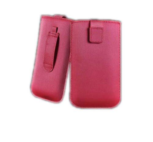 handy-point SATIN Neo Aluminium Optik Pull up Hülle Schutztasche Tasche für iPhone SE / 5 / 5S / 5C, Htc Desire X / HTC One V / HTC Windows Phone 8S, LG Optimus L5 / LG Optimus L5 2, Nokia Lumia 610 /