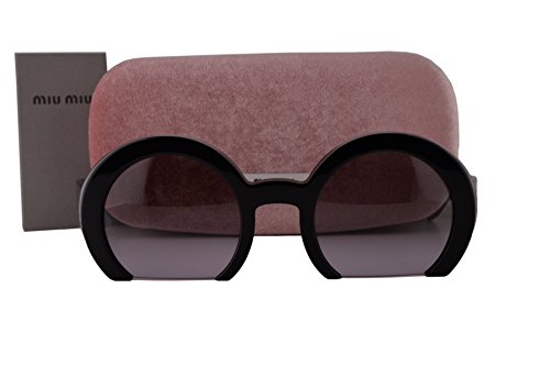 Miu Miu MU07QS Sunglasses Black w/Brown Lilac Gradient Lens 1AB3H0 SMU07Q For - Reading Miu Miu Glasses