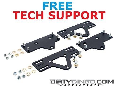 "Dirty Dingo Adjustable Motor Mount Plates Chevy Small Block//Big Block 3/"" Travel"