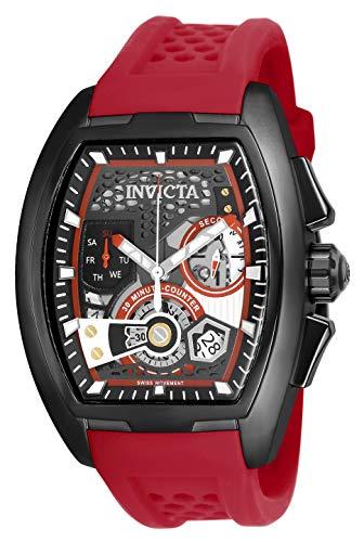 Men's  S1 Rally Quartz Multifunction Gunmetal, Red, Black Dial Watch - Invicta 25934