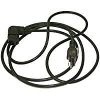 Interpower 70405030234 North American Cord Set, NEMA 5-15 Plug Type, Angled IEC 60320 C13 Connector Type, Black Plug Color, Black Cable Color, 10A Amperage, 125VAC Voltage, 2.34m Length